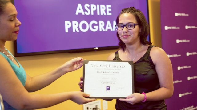 Mariela with Certificate